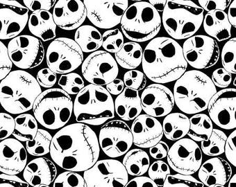 Nightmare Before Christmas Jack on Black / Jack Skellington Fabric / Jack and Sally Fabric / SC 16336 / By The Yard and Fat Quarters
