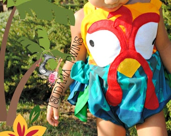 Moana Hei Hei Costume,  HeiHei Costume, Moana Hei Hei Romper, Baby Hei Hei Oufit, Toddler Hei Hei, Hei Hei Romper, Rooster Chicken Outfit