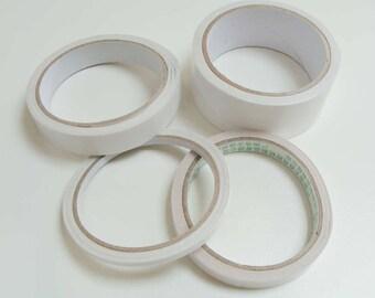 Adhésif double face ruban rouleau largeur 5 à 36mm au choix ou pastilles scrapbooking