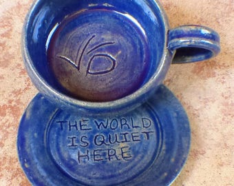 VFD cup and saucer