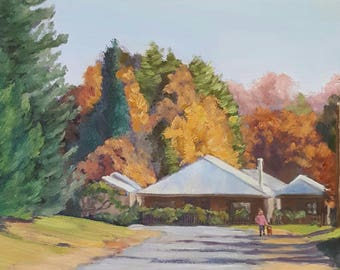Australian landscape painting 'Autumn Colour in Berrima' by Gabrielle Marlow