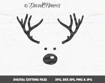 Rudolph svg, Reindeer svg, Christmas svg, Rudolf svg deer svg Cut Files, Svg Files for Cricut, Silhouette svg cut files, Htv Svg SVDP310