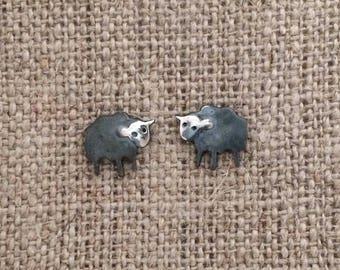 black sheep sterling stud earrings