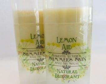 Lemon-Aid All Natural Deodorant by Summer's Skin