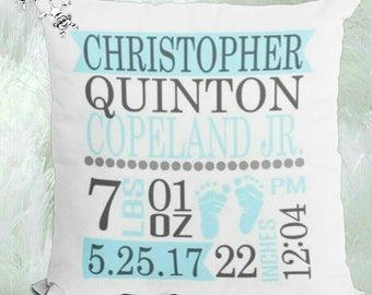 Personalized Pillow - Keepsake Pillow - New Baby Gift - Birth Stats Keepsake - Baby Gift - Nursery Decor - Birth Stats Pillow - Baby Shower