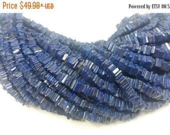 50% OFF 2 Strand Natural Lapis Heishi Beads - Gemstone Lapis Heishi Beads Measurement 4X4X2mm - Lapis Heishi Cut Beads Strand 16 Inch