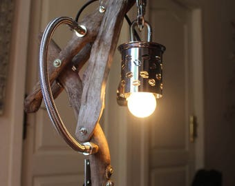"""Lamp industrial """"coffee flottin"""" By Recyclhome."""