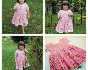 Crochet For EverRose My Princess Toddler Baby Girl Dress Pattern DIGITAL DOWNLOAD ONLY