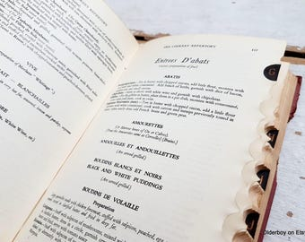 c.1950s Le REPERTOIRE De La CUISINE by L.SAULNIER 13th standard edition vtg book vintage book for chef  sz/912