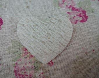 Porcelain Heart Brooch