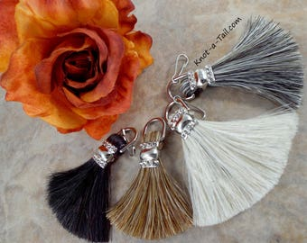 The Fan,  horsehair tassel, 2 inch, Prefect for horse hair bracelet, horsehair necklace, Cute design, bracelet tassel,  Fan design tassel