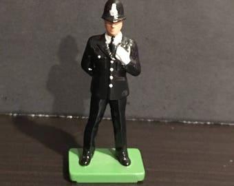 Vintage W. Britains 1990 English Policeman (Metal) Figurine