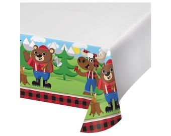 Lumberjack Tablecloth - Lumberjack First Birthday - Bear Baby Shower - Lumberjack Baby Shower - Moose Baby Shower - Buffalo Plaid Tablecloth