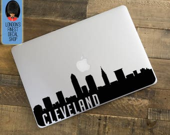 Cleveland City Skyline Macbook / Laptop Decal