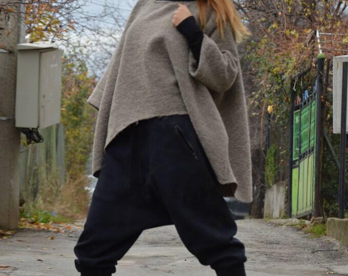 Loose Casual Blouse, Maxi Tunic, Asymmetric Long Sleeves Blazer, Warm Coat, Plus Size Top, Extravagant Tunic by SSDfashion