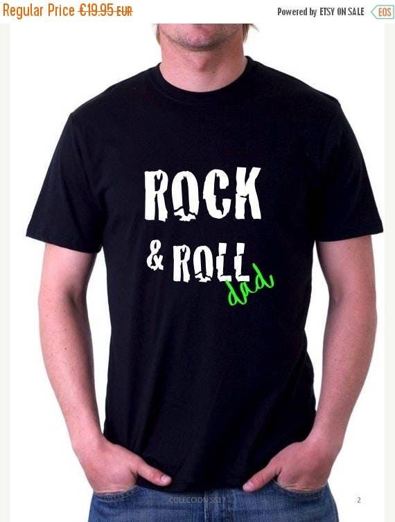 REBAJADO Round neck men short sleeve t-shirt ROCK & ROLLA Dad