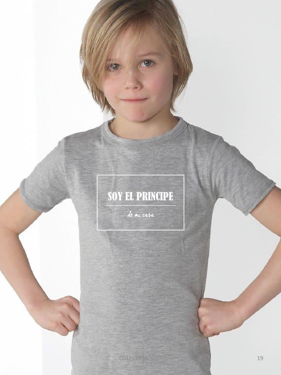 Boy grey t-shirt SOY EL PRINCIPE de mi casa
