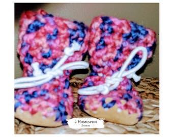 Blue Baby Booties Moccasin Construction Socks Baby Shower Work Sock Monkey Slippers Nursery
