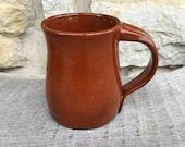 Pottery Mug, Sienna Speckled mug on dark clay handcrafted mug