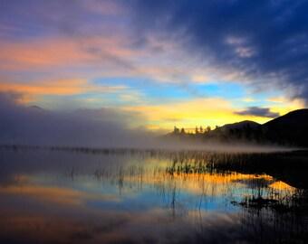 Landscape Photograph, Sunrise Photo, Lake Placid, Adirondack Sunrise Photo, Whiteface Mountain, Adirondack Mountains, Adirondack Fine Art