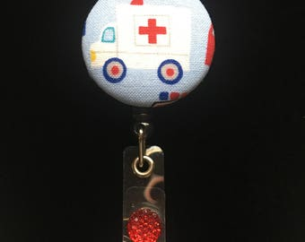 Paramedic Badge-Nurse Retractable ID Badge Reel/ RN Badge Holder/Doctor Badge Reel/Nurse Badge Holder/Nursing Student Gifts
