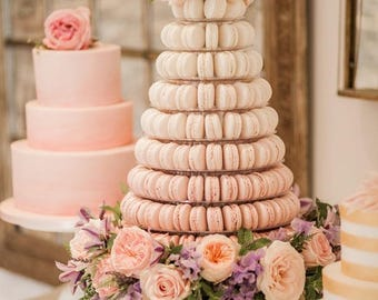 Edible Macaron, 50 pcs Handmade French Macarons, authentic France Macaroon, wedding favors cookies  filled with chocolate, party desert