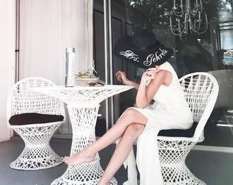 Personalized straw hat - Personalized hat - Straw Hat - Beach hat - Embroidered straw hat - Monogram hat - Bride gift - Bridal shower gift