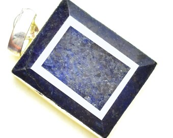 92.35Ct Certified Blue Sapphire Wonderful Pendant 925 Solid Sterling Silver AU4731