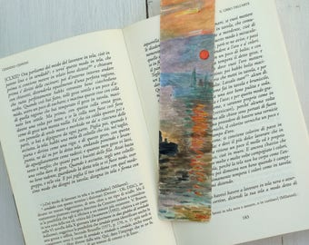 Bookmark Watercolor, handmade, paper bookmarks, custom bookmarks, wedding favors-Impressionists #2