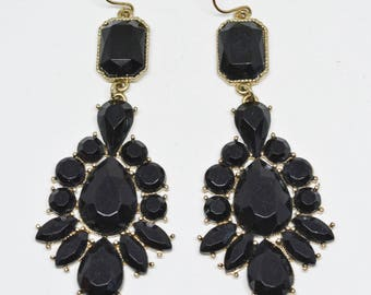 Lovely black tone earrings