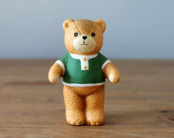 Lucy Rigg Lucy and Me Bear Green Shirt Enesco 1979