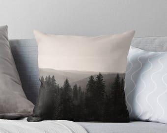 Ombre Pillow  | Tree Pillows | Brown Pillows | Farmhouse Throw Pillows | Hippie Pillow Cover | Decorative Pillows For Bedroom Decor