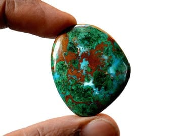 Chrysocolla Large 48.5 Cts AAA Quality Natural Gemstone Attractive Designer Free Form Shape Cabochon 35x30x5 MM R14069