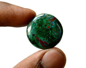 Chrysocolla 26 Cts AAA Quality Natural Gemstone Attractive Designer Round Shape Cabochon 21x21x5 MM R14399