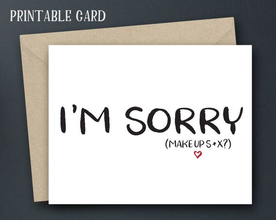 Luscious image for printable sorry card