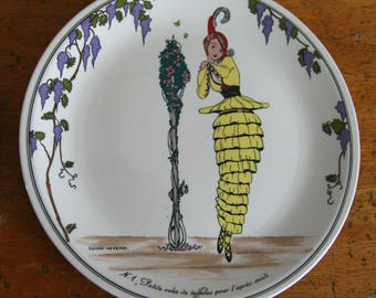 Villeroy and Boch vintage fashion plate, 1990