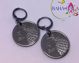 BG 0.5 Cent Stainless Steel Hoop Earring.