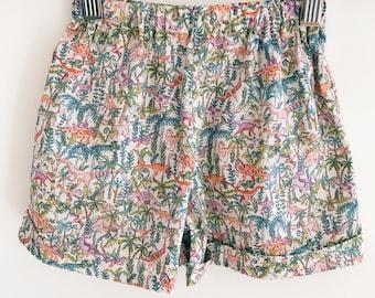 SOPHIA Handmade Liberty Print Girls Cuffed Shorts