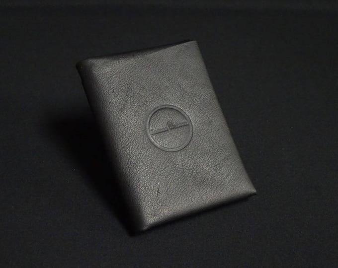 Bantam8Note Wallet with Zip - Soft Black - Kangaroo leather with RFID credit card blocking - Handmade - James Watson