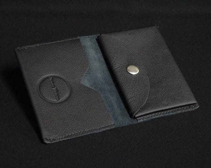 Bantam Wallet - Matte Black with Coin - Kangaroo leather with RFID Credit Card Blocking - James Watson
