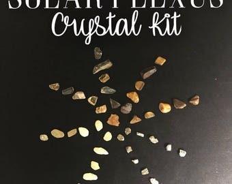Solar Plexus Chakra Crystal Kit and Fact Sheet and Recipes