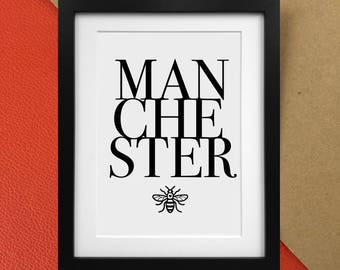 Manchester Charity Print with Worker Bee