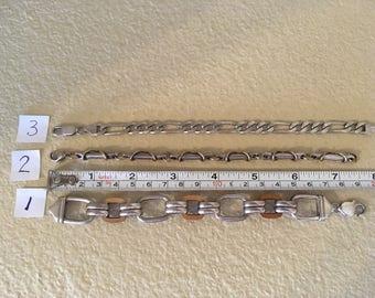 One sterling silver link bracelet