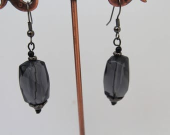 Black  Transparent Earrings,