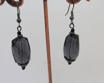 Black  Transparent Earrings,