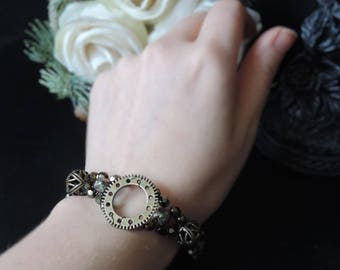 "Steampunk bracelet ""Precious Gears - Bronze"""