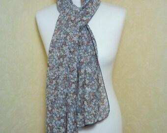 Scarf shawl flowers veil tonal liserai Bumblebee women's scarf
