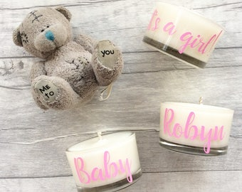 Christening naming day favours, baby shower decorations, baby girl, baby boy, it's a girl, it's a boy, personalised favours