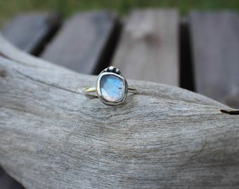 Labradorite Sailor Ring, Handcrafted Sterling Silver Gemstone Ring, Made to order