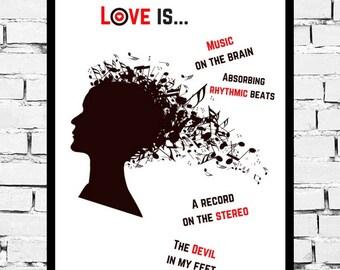 Music Prints | Music Art | Music Decor | Music Wall Art | Music Quotes | Music Poster | Music Lover | Music Lover Gift | Music Note